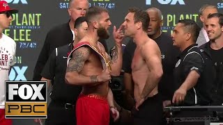 Caleb Plant and Mike Lee both make weight for their title fight | WEIGH-INS | PBC ON FOX