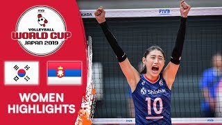 KOREA vs. SERBIA - Highlights | Women's Volleyball World Cup 2019