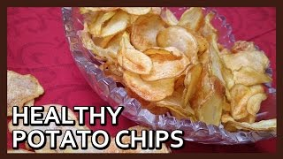 Air fried Homemade Potato Chips Recipe | Airfryer Recipes by Healthy Kadai