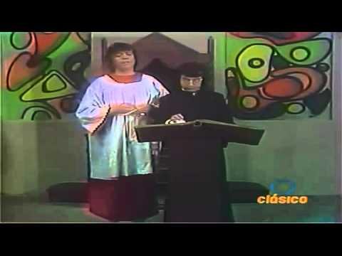 Guillo el Monaguillo con Chabelo y Cesar Costa