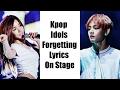 Kpop Idols Forgetting Lyrics On Stage