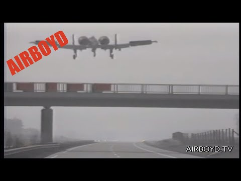 "Planes Landing On Autobahn NATO Exercise ""Highway 84"" West Germany 1984"