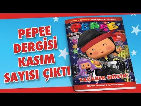 Pepee Dergisi Kasım Sayısı Çıktı !