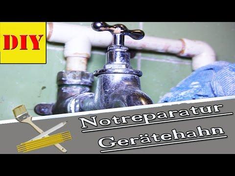 ► Gerätehahn/Wasserhahn Tropft - Wasserhahn Not Reparatur - Dichtung Selber Bauen ►TIPP´S & TRICKS ◄