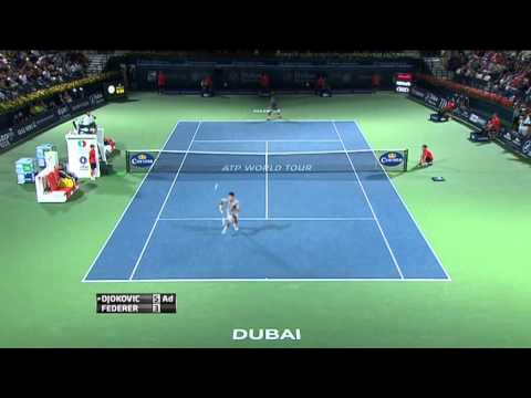 Epic point Roger Federer vs Novak Djokovic In Dubai - Hot Shot - Tennis - ATP