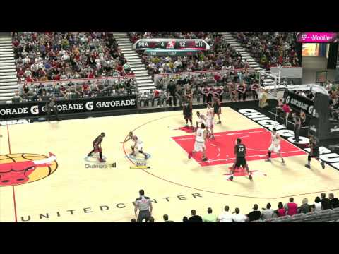 Смотреть NBA 2K10 Gameplay - Miami Heat vs. Chicago Bulls, Quarter 1 онлайн