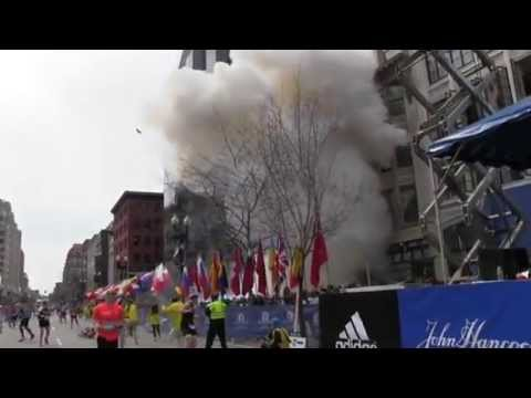 Amateur footage Boston bomb attack