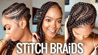 Vacation Hair | Feed-In Stitch Braids Tutorial