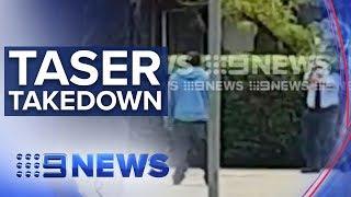 Armed man tasered by police in Sydney   Nine News Australia