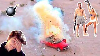 I BLEW UP MY FRIENDS CAR (PRANK WARS)