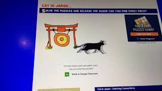 How to Get all of the sushi in cat in Japan