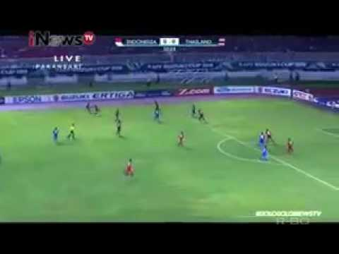 Gologologolo final leg 1 aff cup  2016 indonesia vs thailand