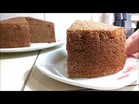 No Oven Baking: Chocolate Sponge Cake Recipe