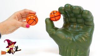 🏀 Jugamos al Baloncesto con Manos de Hulk 🏀 Juego de Mesa