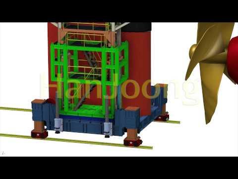 RUDDER TRANSPORTER / SHIPYARD / SHIPBUILDING / AUTOMATION / HanJoong