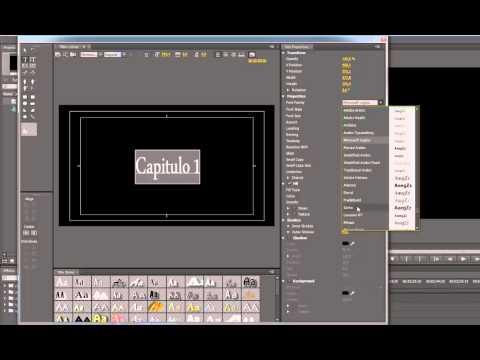 Tutorial Adobe Premiere CS6 Crear creditos, titulos, texto, carteles. Español