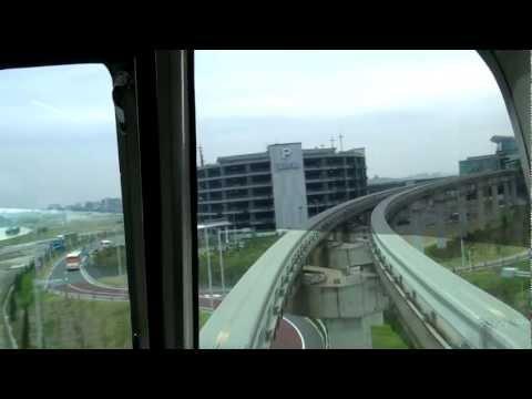 [前面展望]東京モノレール 区間快速 羽田空港第2ビル→浜松町