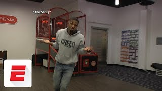 Michael B. Jordan re-creates Michael Jordan's most iconic moments | ESPN Archives