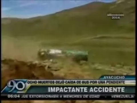Precisos Momentos del Accidente Despiste Bus Perla DeL Sur en Lucanas Ayacucho