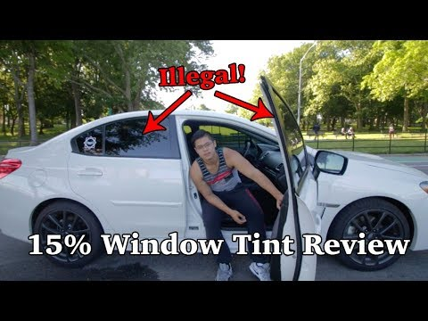 Pulled over TWICE for these tints    15% window tint review    15% Tints at night