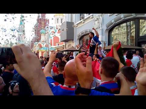 World cup. Croatia fans in Moscow. July 11, 2018 thumbnail