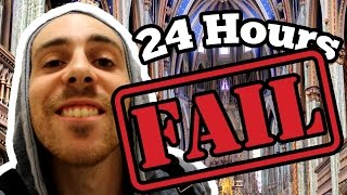 24 HOUR OVERNIGHT CHURCH CHALLENGE (GONE WRONG) // 24 Hours in a Church FAIL!