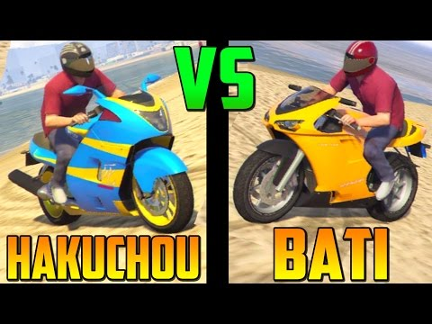 Hakuchou VS Bati - Test de Velocidad - La Moto Mas Rápida de GTA 5 Online 1.17