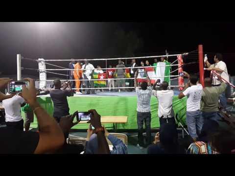 Ghana Kickboxing.  Isaac Aikins(21)