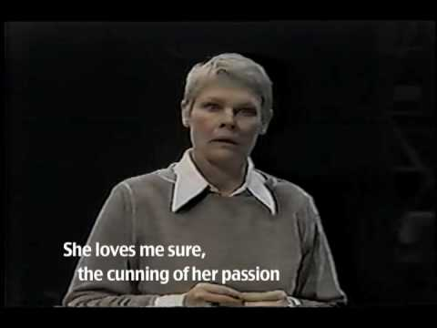 Discovering Text In The Moment: Twelfth Night viola As Performed By Judi Dench video