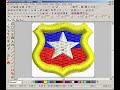 Wilcom9 creando escudo de chile