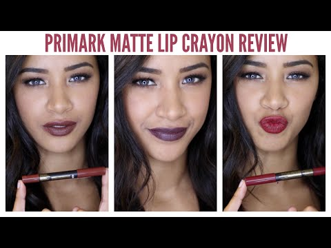 £2 Primark Velvet Matte Lipstick Crayon Lip Swatches & Review ♡ - BARGAIN BEAUTY BUY! -