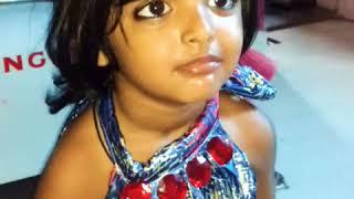 Make joke of mimicry by little girl