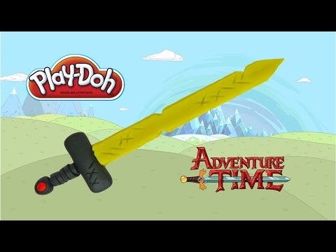 play doh adventure time Finn's Golden Sword - how to make with playdoh