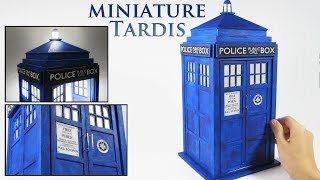 DIY Miniature Tardis (Lights up!)