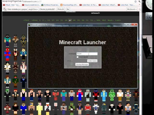 Jmena SKINU.. Do Minecraft-CZ