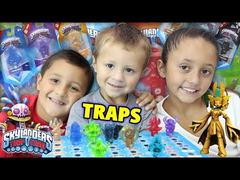 Skylanders Trap Team All 8 Elements Traps Unboxing Race! + KAOS! (Wave 1 Fun!)