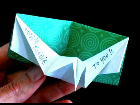 How Make Origami Birthday Pop Card