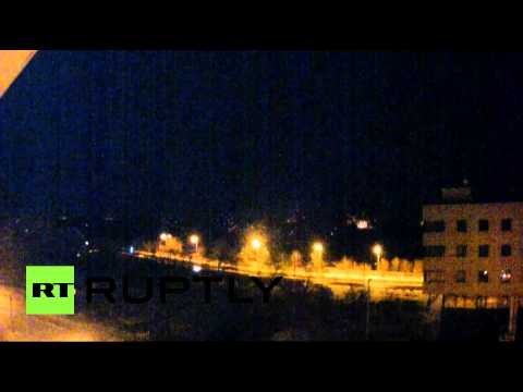 RAW: Massive shelling & explosions around Donetsk Airport