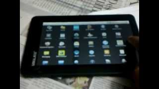 My first tablet.. ubislate 7+ (Aakash's step bro)