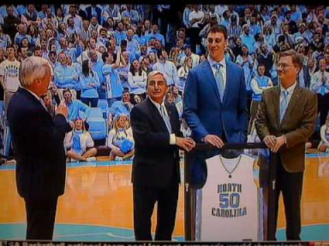 Tyler Hansbrough Jersey Gets Retired At Duke Vs North Carolina Game Video