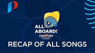 Eurovision Song Contest 2018 - Recap of ALL Songs!