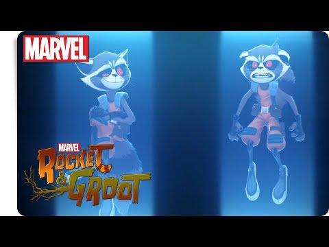 Rocket & Groot - Formwandler   Marvel HQ Deutschland