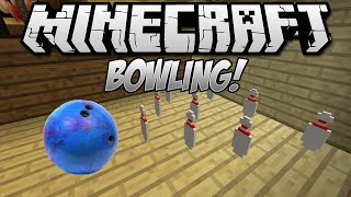 BOWLING IN MINECRAFT! - Minecraft Mini Game