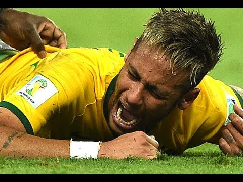 Brazil's Neymar Out Of World Cup : Zuniga Kicking Neymar Jr