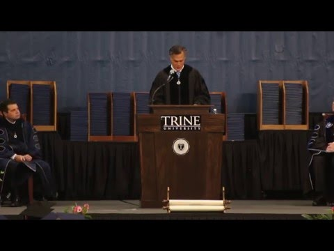 Mitt Romney 2016 Trine University Commencement Speech