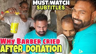 Best-ever street head massage and neck cracking by poor Indian barber | ASMR | SUBTITLES available