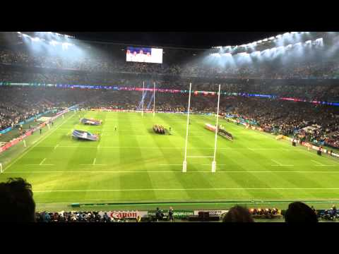 England vs. Fiji -National Anthem - God Save Our Queen. Official Opening Ceremony Rugby World Cup 15