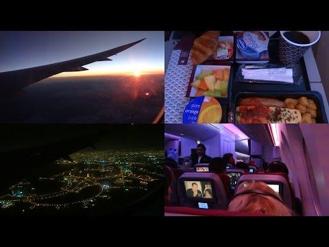 Qatar Airways | Brussels to Doha 787 Dreamliner FULL FLIGHT  [HD]