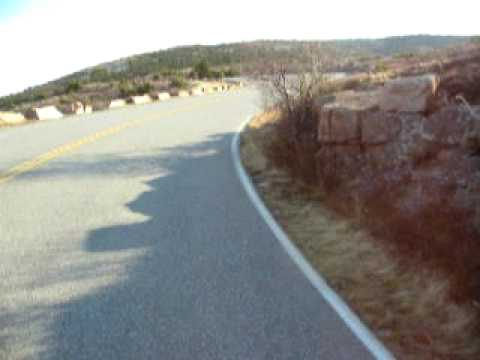 Cycling up Cadillac Mountain in early winter: Bar Harbor, ME