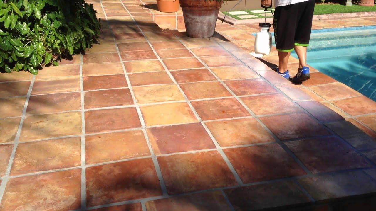 Clear floor tiles